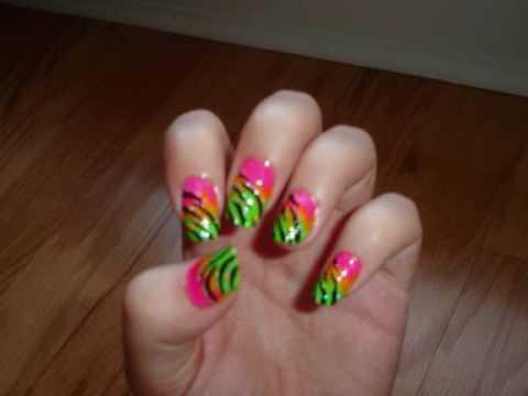 Neon zebra nails originally a design by annasbeautysecrets youtube neon zebra nails originally a design by annasbeautysecrets prinsesfo Choice Image