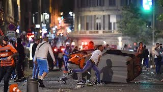 Marseille fans clash with police after europa league final defeat 16.05.2018