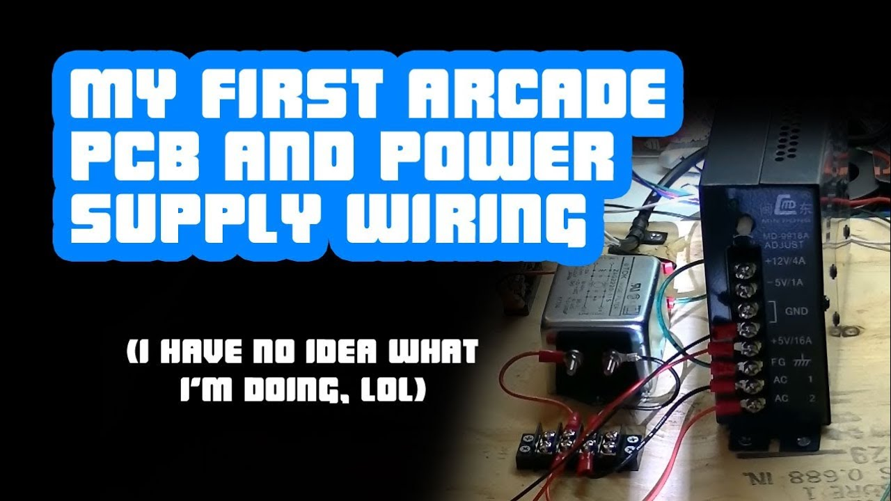 maxresdefault setup tips] arcade pcb and power supply wiring youtube arcade switching power supply wiring diagram at gsmx.co