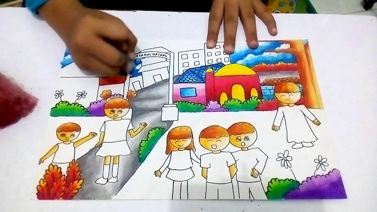 Yukk Menggambar Dan Mewarnai Dengan Tema Lingkungan