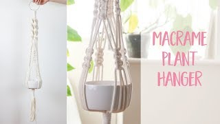 Macrame Plant Hanger How to DIY Tutorial | Craftiosity | Craft Kit Subscription Box