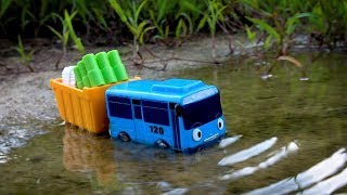 Tayo The Little Bus Meet Crocodile - Tayo be careful - Cars Toys For Kids