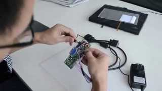 how to use lvds vga control driver board kit
