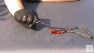 Нож шейник Kizlyar Supreme Amigo X зеленая рукоять, серый