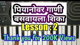 learn piano easy steps  !! पियानो वाजव�...