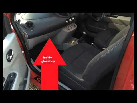 renault twingo mk2 obd2 diagnostic port location youtube. Black Bedroom Furniture Sets. Home Design Ideas