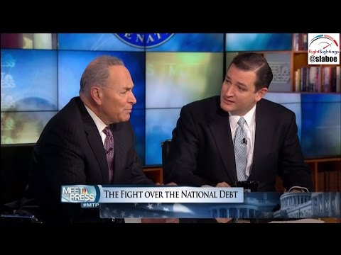 Sen. Ted Cruz vs. Sen. Chuck Schumer Debate on Meet The Press w/ David Gregory - 1-20-13