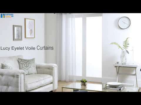 Lucy Eyelet Voile Curtains
