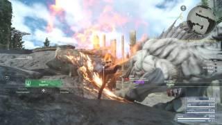 Final Fantasy 15 Defeat Behemoth Tyrant Level 8 Hunting Quest