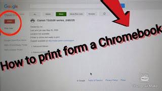 How to print fŗom a Chromebook (2020)