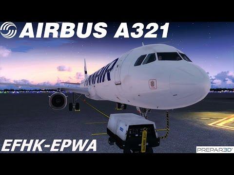 P3D   Finnair Airbus A321   OH-LZG   EFHK-EPWA   Connected Flight Deck