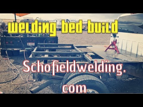 Welding Bed Build Getting the Frame Ready!!