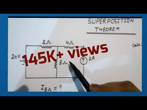 Easy Stepwise Solve Ckt Dig By Superposition Theorem In Hindi....