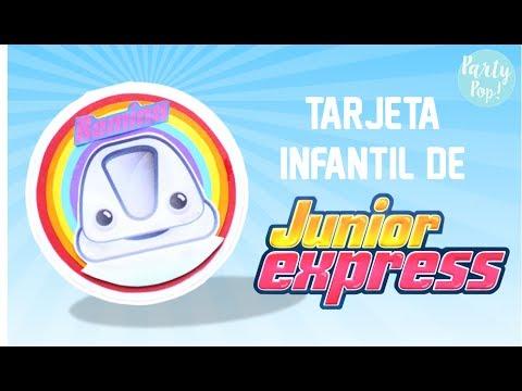 Junior Express Invitación Infantil Moldes Diy Party Pop