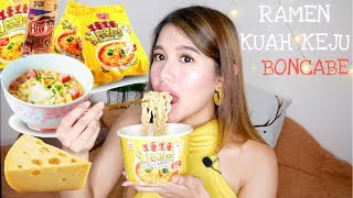 Mie Ramen Korea Kuah Keju + Boncabe Lvl 30 = Kenikmatan Hqq!!