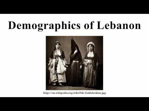 Demographics of Lebanon
