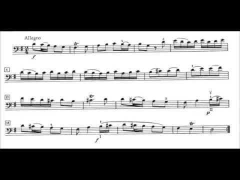 Benedetto Marcello: Sonata No. 6 - Allegro (2nd mt.) Richard Thomas, cello