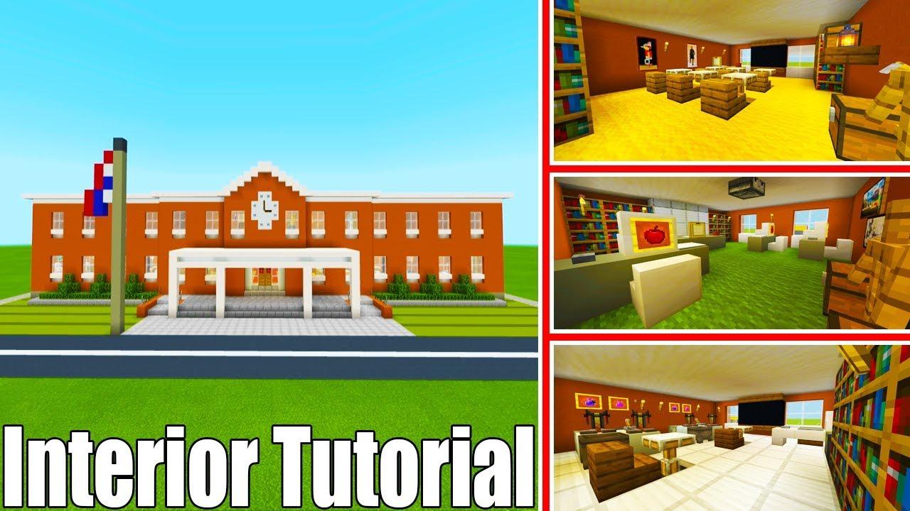 Minecraft Tutorial: How To Make A School Part 2 Interior ...