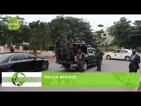 POLICE BESIEGE HOME OF SENATE PRESIDENT, BUKOLA SARAKI