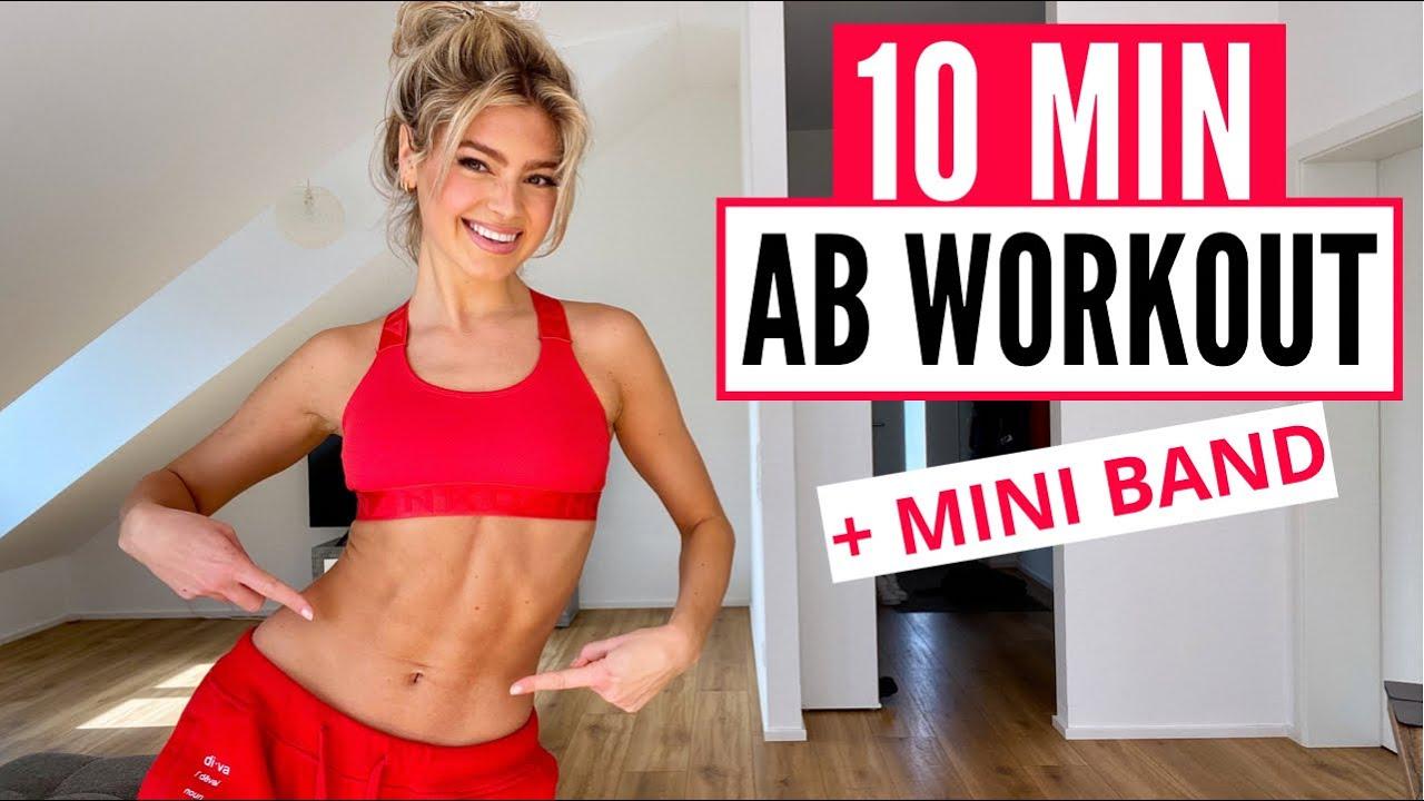 10 MIN. AB WORKOUT - lose lower belly fat / optional: MINI BAND | Mary Braun