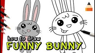 Drawing Easter Bunny | Drawing Bunny Rabbit | Draw with Timothy