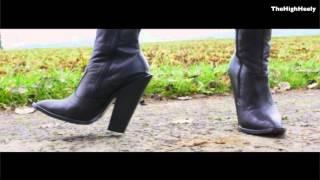 6inch High Heel Cowboyboots walking outdoor
