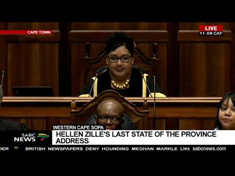 Western Cape SOPA | Hellen Zille's last State Of the Province Address