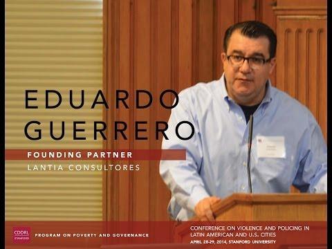 Eduardo Guerrero, Recent Trends of Organized Crime Related Violence in Mexico