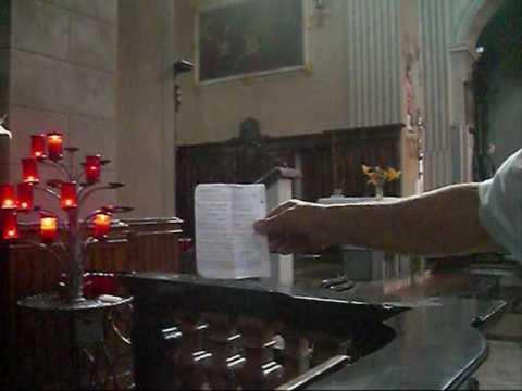 Visione spartito, Canto Gregoriano, Inno di San Bernardo, Studio di Giovanni Vianini