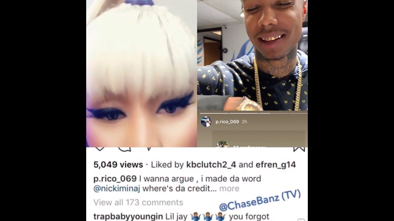 """Download NICKI MINAJ tagged By """"P.RICO"""" Blueface Got Thotiana From Me"""