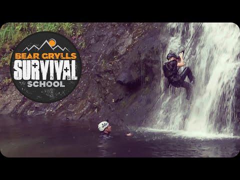 Bear Grylls Survival School: Climbing a 20m High Waterfall