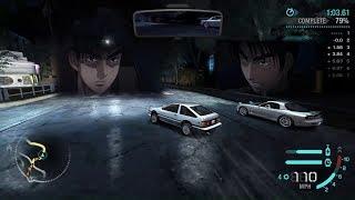 Initial D Carbon | Takumi vs Ryosuke (AE86 vs FC3S)