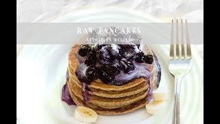 Raw Pancakes with Coconut Whipped Cream & Blueberry Sauce | Paleo, Vegan