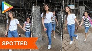 Riddhima Kapoor spotted with her daughter at Croma Juhu