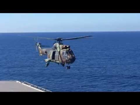LHD Juan Carlos I, 4 and 6 spot helo launches