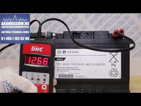Видео обзор аккумулятора GM 60 А/ч (95523432)
