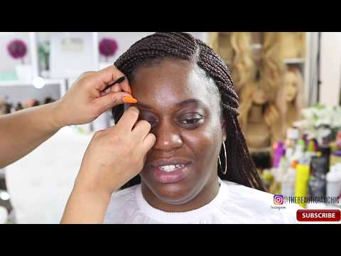 HAIR BRAIDING AND SIMPLE MAKEUP |BOX BRAING |EXPRESSION COLOUR 33 | LONDON UK
