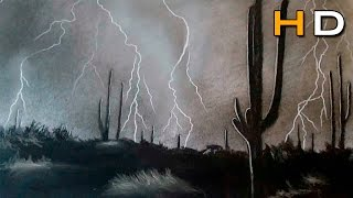 How to Draw a Realistic Thunderstorm Step by Step - Storm and Lighting Strike