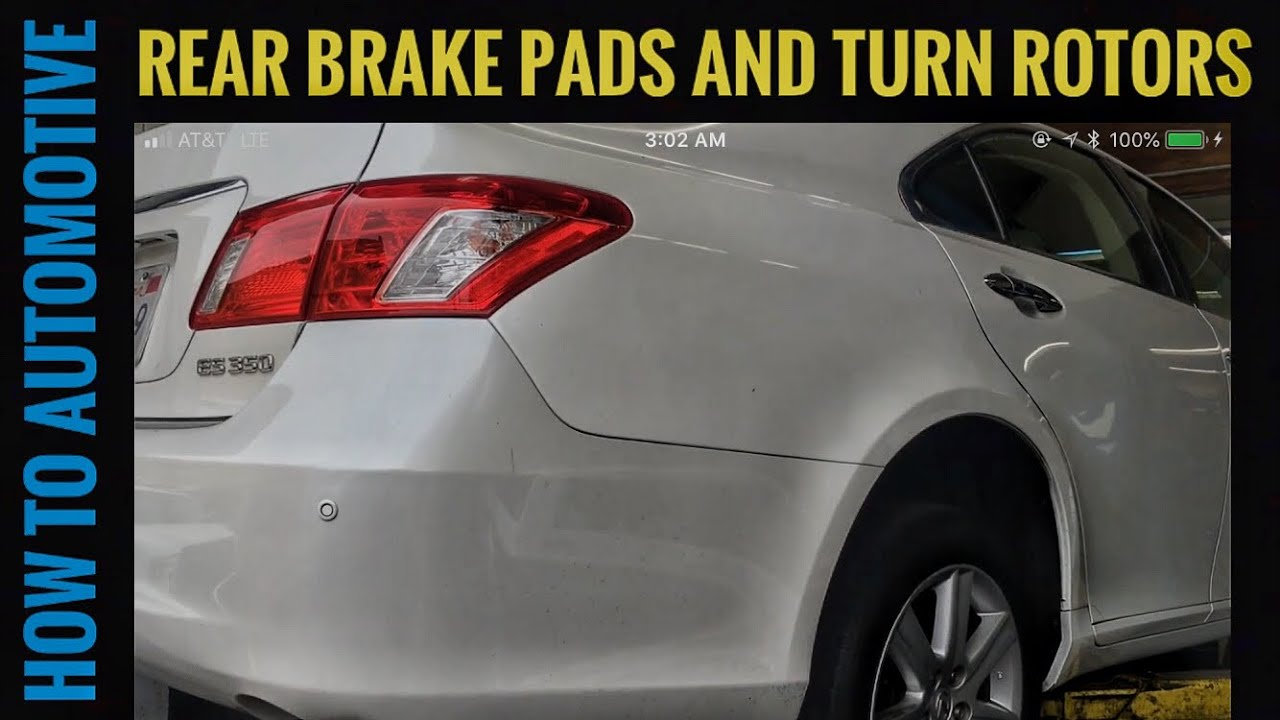 When To Replace Brake Pads >> How to Replace the Rear Brake Pads and Turn Rotors On a 2008 Lexus ES350 - YouTube