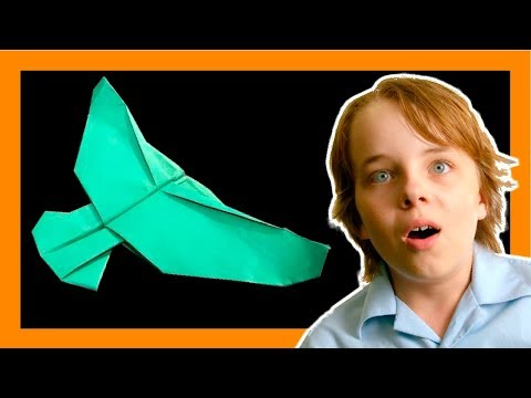 How to make the EAGLE PAPER PLANE from the MOVIE paper planes 🦅