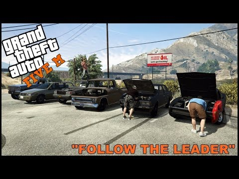 GTA 5 ROLEPLAY - CHEAP CAR FOLLOW THE LEADER CHALLENGE - EP. 343 - CIV