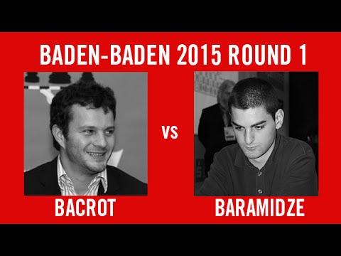 Grenke Chess Classic 2015 Round 1 Etienne Bacrot vs David Baramidze