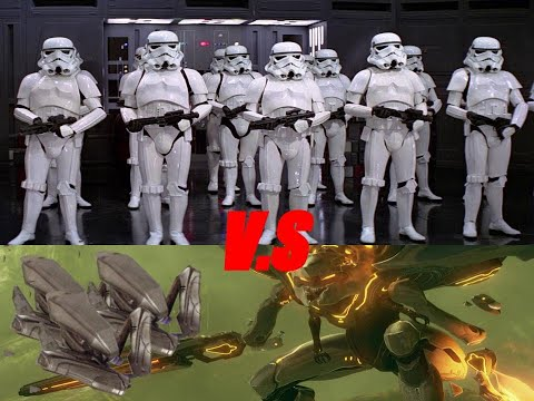Gmod npc battle: Forerunners (halo) vs The Empire (star wars) |