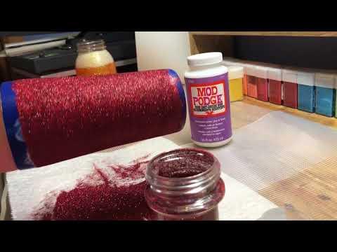 DIY: Applying Mod Podge (and glitter) Using the Finger Method