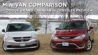 Minivan Comparison | Dodge Grand Caravan vs Chrysler Pacifica | Driving.ca