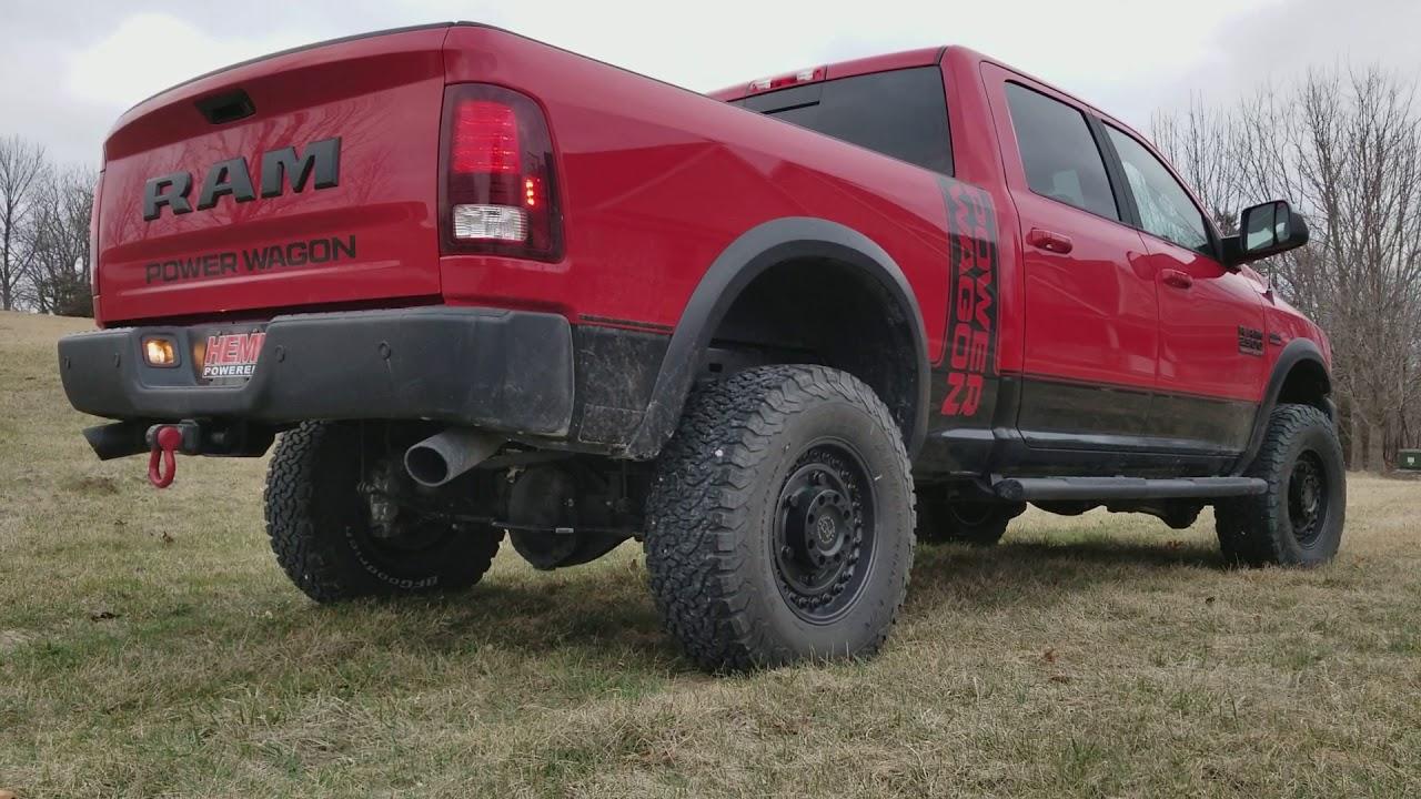 2018 Ram 2500 Power Wagon 6.4L Hemi with Black Widow Venom 250 Exhaust - YouTube