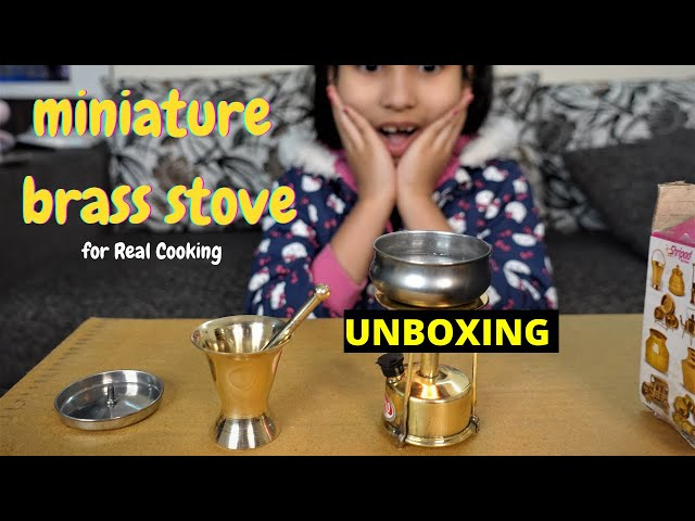 Steel home miniature brass combo of stove  / #UNBOXING / HINDI | #LearnWithPari