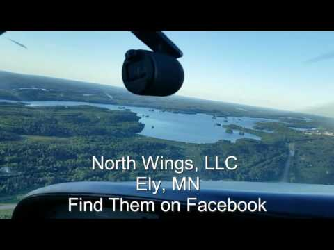 Short Air Tour near Ely, Minnesota, view lakes and forest, neighborhoods and streets from a cesna