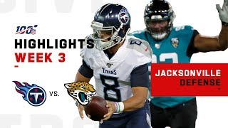 Sacksonville DOMINATES w/ 9 Sacks vs. Mariota | NFL 2019 Highlights