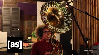 The Preservation Hall Jazz Band: Behind the Scenes | Squidbillies Theme Song | adult swim